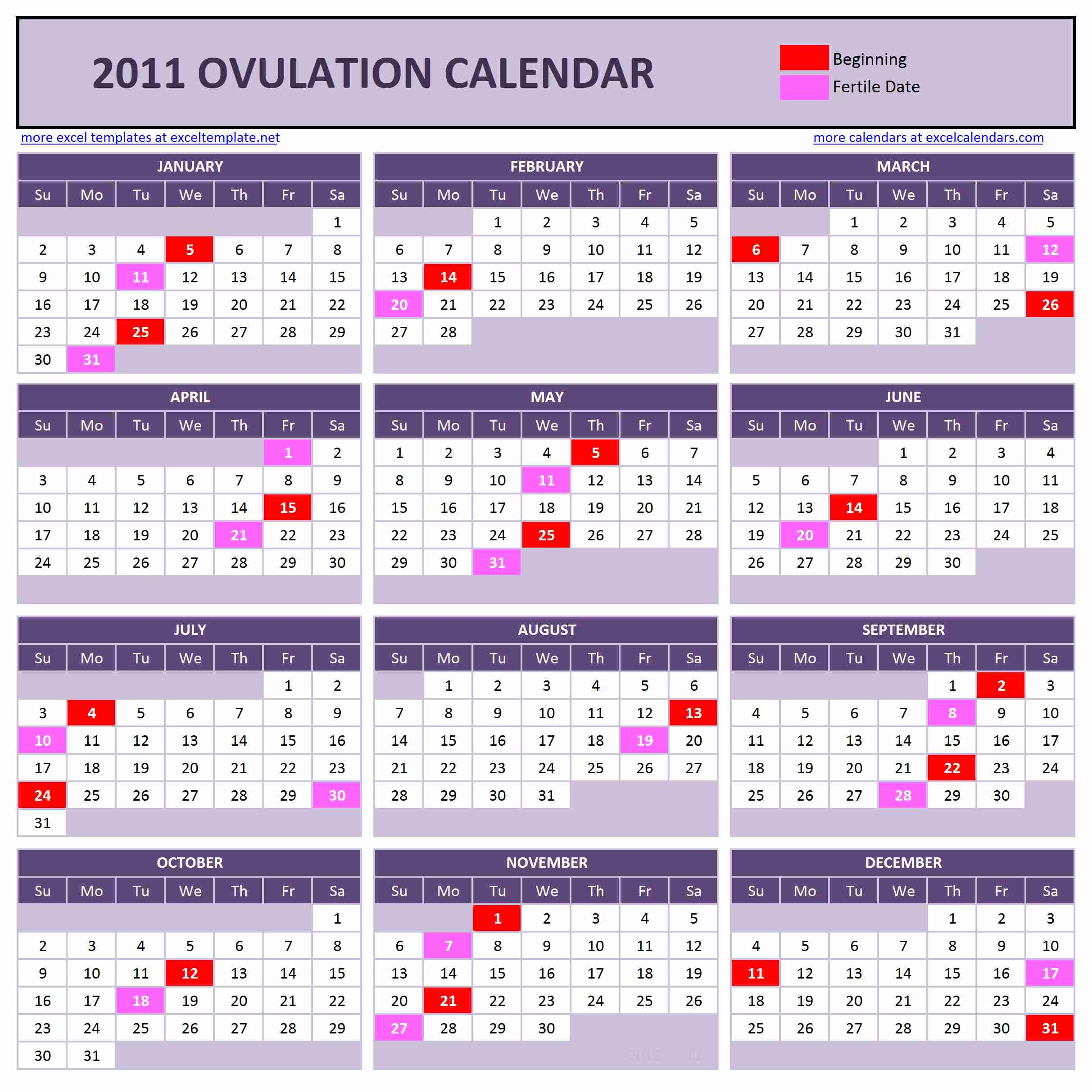 Year Calendar Calculator : Ovulation calendar basics autos post