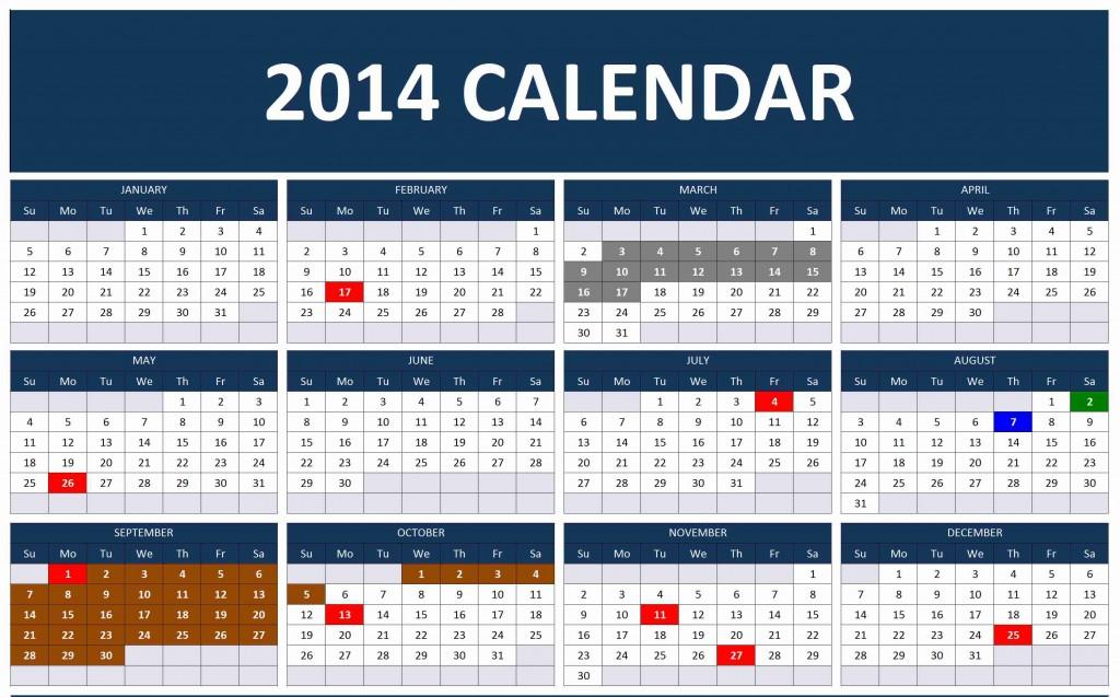 1024 x 637 jpeg 174kB, 2014 CalendarExcel Calendars | Excel Calendars