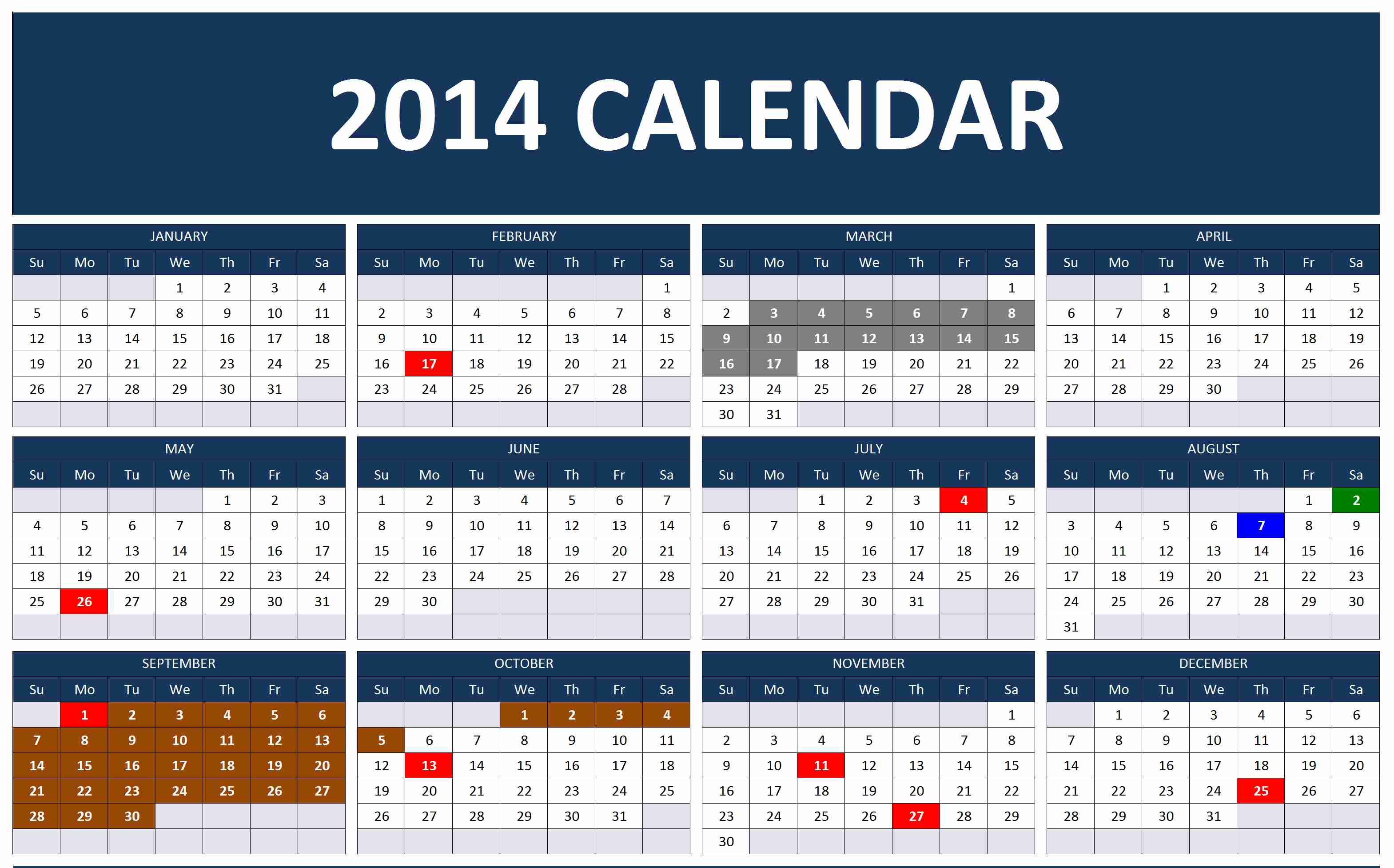 ... tables. Dates that have been set as your important dates will have