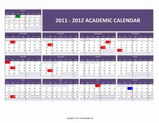 2011/2012 Academic Calendar