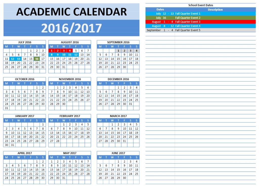 2016-2017 School Calendar 5