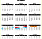 2019 Excel Calendar Template
