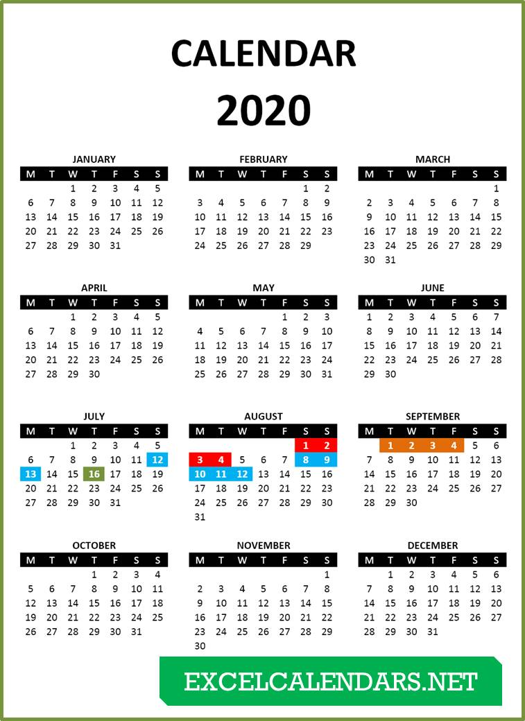 2021-2022 Calendar Excel Wallpaper